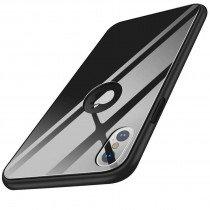 Glazen hoesje iPhone X zwart