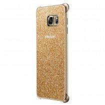 Glitter cover Samsung Galaxy S6 Edge Plus EF-XG928CFE goud - Zijkant