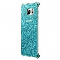Glitter cover Samsung Galaxy S6 Edge Plus EF-XG928CLE blauw - Zijkant