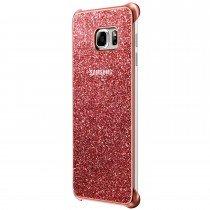 Glitter cover Samsung Galaxy S6 Edge Plus EF-XG928CPE roze - Zijkant