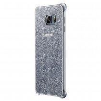 Glitter cover Samsung Galaxy S6 Edge Plus EF-XG928CSE zilver - Zijkant