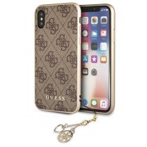 Guess Charms Hard Case 4G iPhone X/XS bruin GUHCPXGF4GBR