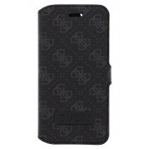 Guess 4G book case iPhone 6 / 6S zwart GUMFLBKP6SOB