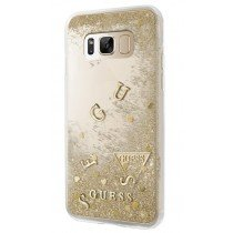 Guess Liquid Glitter Hard Case Galaxy S8 Plus goud GUHCS8LGLUFLGO