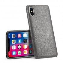 Case leer Apple iPhone X grijs