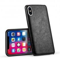 Case leer Apple iPhone X zwart