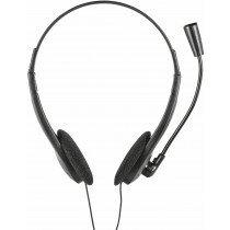 Headset met verstelbare microfoon voor skype, teams en zoom