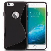 Hoesje Apple iPhone 6S Plus TPU case zwart