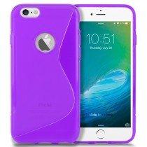 Hoesje Apple iPhone 6S TPU case paars