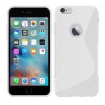 Hoesje Apple iPhone 6S TPU case wit