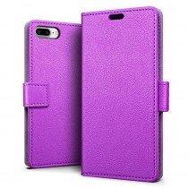 Hoesje Apple iPhone 8 Plus flip wallet paars