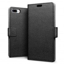 Hoesje Apple iPhone 8 Plus flip wallet zwart