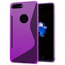 Hoesje Apple iPhone 8 Plus TPU case paars