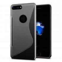 Hoesje Apple iPhone 8 Plus TPU case zwart