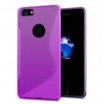 Hoesje Apple iPhone 8 TPU case paars