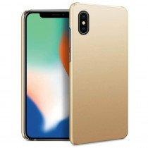 Hoesje Apple iPhone X hard case goud