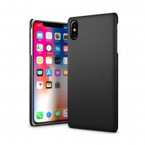 Hoesje Apple iPhone X hard case zwart
