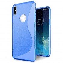 Hoesje Apple iPhone X TPU case blauw