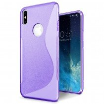 Hoesje Apple iPhone X TPU case paars