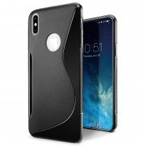 Hoesje Apple iPhone X TPU case zwart