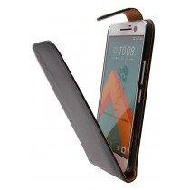 Hoesje HTC 10 flip case zwart - Open