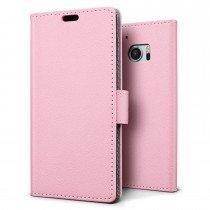 Hoesje HTC 10 flip wallet roze