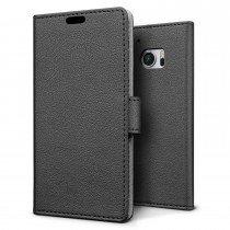 Hoesje HTC 10 flip wallet zwart