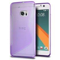Hoesje HTC 10 TPU case paars