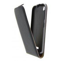 Hoesje HTC Desire 320 flip case dual color zwart