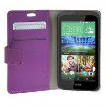 Hoesje HTC Desire 320 flip wallet paars - Open