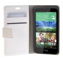 Hoesje HTC Desire 320 flip wallet wit - Open