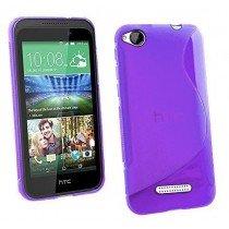 Hoesje HTC Desire 320 TPU case paars