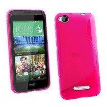 Hoesje HTC Desire 320 TPU case roze