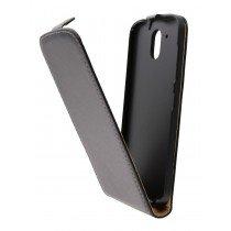 Hoesje HTC Desire 526 flip case dual color zwart - Open
