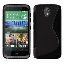 Hoesje HTC Desire 526 TPU case zwart