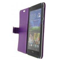 Hoesje HTC Desire 820 flip wallet paars