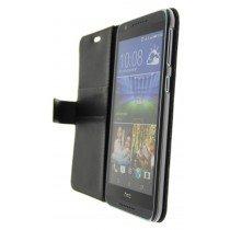 Hoesje HTC Desire 820 flip wallet zwart