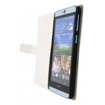 Hoesje HTC Desire 826 flip wallet wit - Open