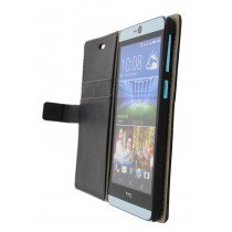 Hoesje HTC Desire 826 flip wallet zwart - Open