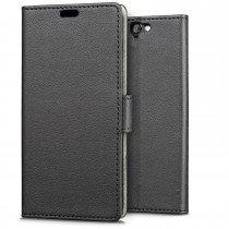 Hoesje HTC One A9 flip wallet zwart