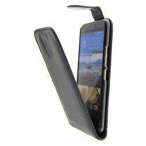 Hoesje HTC One M9 flip case zwart