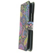 Hoesje HTC One M9 flip wallet fantasy