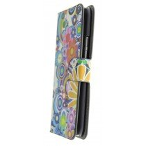 Hoesje HTC One M9 flip wallet flowers