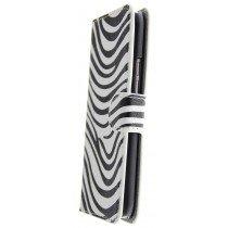 Hoesje HTC One M9 flip wallet zebra