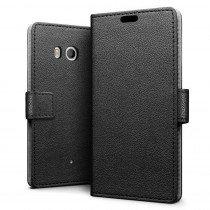 Hoesje HTC U11 flip wallet zwart
