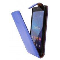 Hoesje Huawei Ascend G620s flip case blauw