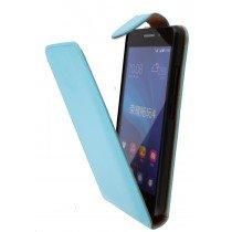 Hoesje Huawei Ascend G620s flip case licht blauw