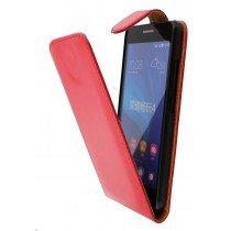 Hoesje Huawei Ascend G620s flip case rood