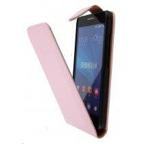 Hoesje Huawei Ascend G620s flip case roze