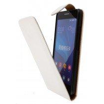 Hoesje Huawei Ascend G620s flip case wit